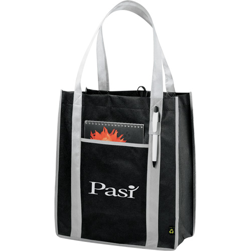 Downtown Two Tone Non Woven Tote 2150-44, 215044, PolyPro, Non, Woven, Contrast, Carry, All, Tote