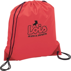 Tahoe Junior Nylon Drawstring Backpack 14 x 16 SM-7548, sm7548, oriole drawstring, cinch, backpack