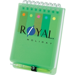 Stickymania Jotter with Pen SM-3471, sm3471, memo, flag, spiral, jotter