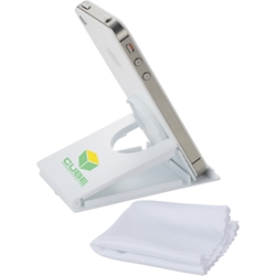Hammond Phone Stand with Cleaning Cloth SM-3865, sm3865, snap, media, holder, with, screen, cleaner