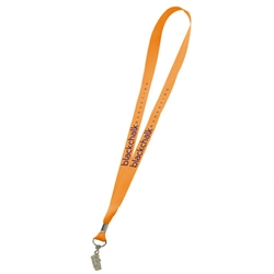 "3/4"" Polyester Lanyard with Bulldog Clip"