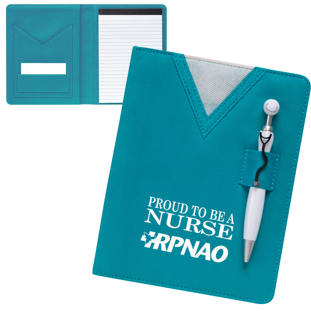 Scrubs Junior Padfolio with Swanky Stethoscope Pen Set - 13619