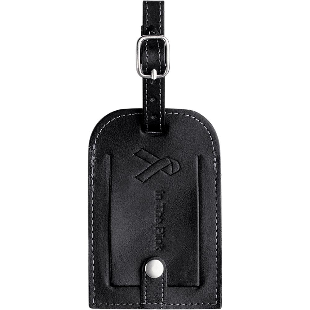 Victoria Leather Luggage Tag with Snap