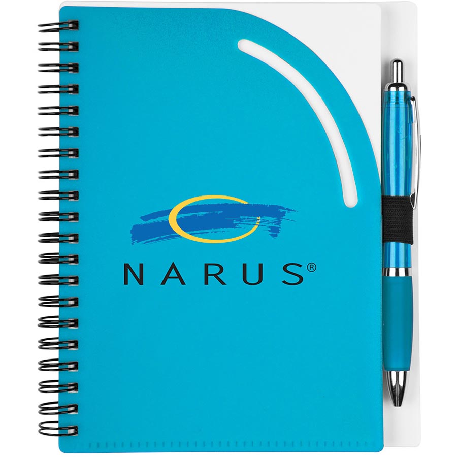 Tangier Junior Notebook with Pen MP3533,MP3533,Curvy,Top,Notebook,Set,