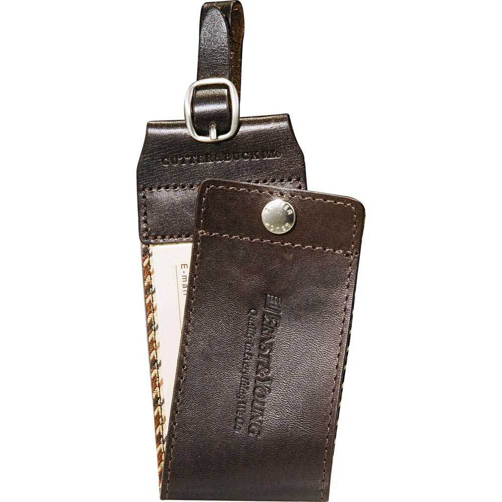 Cutter & Buck American Classic Leather Luggage Tag