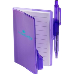 Merit Mini Jotter with Pen PL-1721,PL1721,Clear-View,Jotter,with,Pen