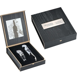 Sonnnet Wine Opener & Pourer Gift Set 1450-50,145050,Belgio,2,Piece,Wine,Opener,and,Pourer,Ensemble