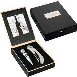 Sonnet Wine Opener & Stopper Gift Set 1450-28,145028,Belgio,2-Piece,Wine,Ensemble