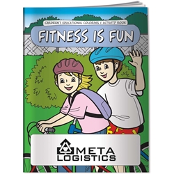 Coloring Book - Fitness is Fun 20630,Coloring,Book,Fitness,is,Fun,instruction,instructional,information,informational,guide,education,educational,children,child,kids,doctors,office,medical,health,exercise,color