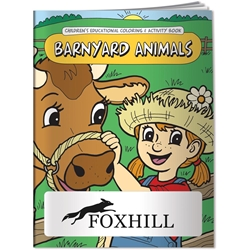 Coloring Book - Barnyard Animals 40684,Coloring,Book,Barnyard,Animals,Informational,Guides,Info,Guides,kids,children,educational,color,school,farm,animals,cows,chickens,animal,husbandry,livestock