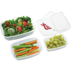 Harvest Food Containers Set of 3 45988,45988,Food,Container,3-Pack,