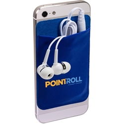 Lycra Mobile Device Wallet with Earbuds PL-1234,PL1234,Mobile,Device,Pocket,&,Earbuds,Set,