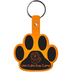 Flexible Key Tag - Paw 568,568,Paw,Flexible,Key-Tag,