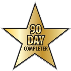 "90 Day Completer Star Pin UP100 STR-5,UP100 STR5,Laminated,Digital,Full,Color,Pin,Star,1.12"",W,Job Corps"