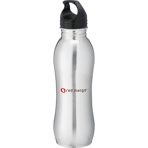 Wave Stainless Steel Bottle 25 oz bullet SM-6797, bullet sm6797, curve bottle, curve stainless steel bottle, curve stainless steel sports bottle