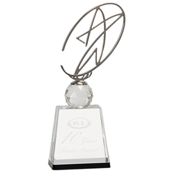 Aries Star Award on Crystal Base 11""