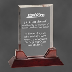 "Arlington Rectangular Acrylic Award 9.75"" PTA23, rectangle, prestige, acrylic"