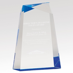 "Encore Acrylic Award 7"" AWG7BU, AWG7GD, facet, wedge, faceted, acrylic"