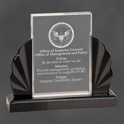 "Adelaide Rectangular Acrylic Award 6.25"" MT62, rectangle, midnight, acrylic"