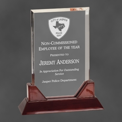 "Arlington Rectangular Acrylic Award 7.75"" PTA21, rectangle, prestige, acrylic"