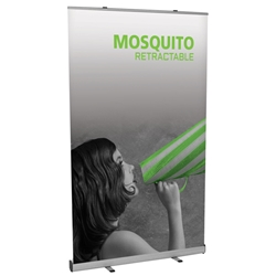 "Mosquito Economy Retractable Banner Stand 47.25"" W MSQT-1200, MSQT-1200-S, MSQT1200, MSQT1200S"