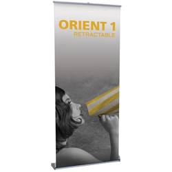 "Orient 1 Standard Retractable Banner Stand 35.5"" W ONT-920, ONT-920-S, ONT-920-B, ONT920, ONT920S, ONT920B"