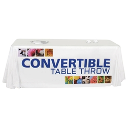 Convertible 6-8 Dye Sublimated Table Throw TBL-T, TBL-T-E, TBL-T-F