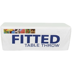 8 Dye Sublimated Fitted Table Throw TBL-FT-6-F