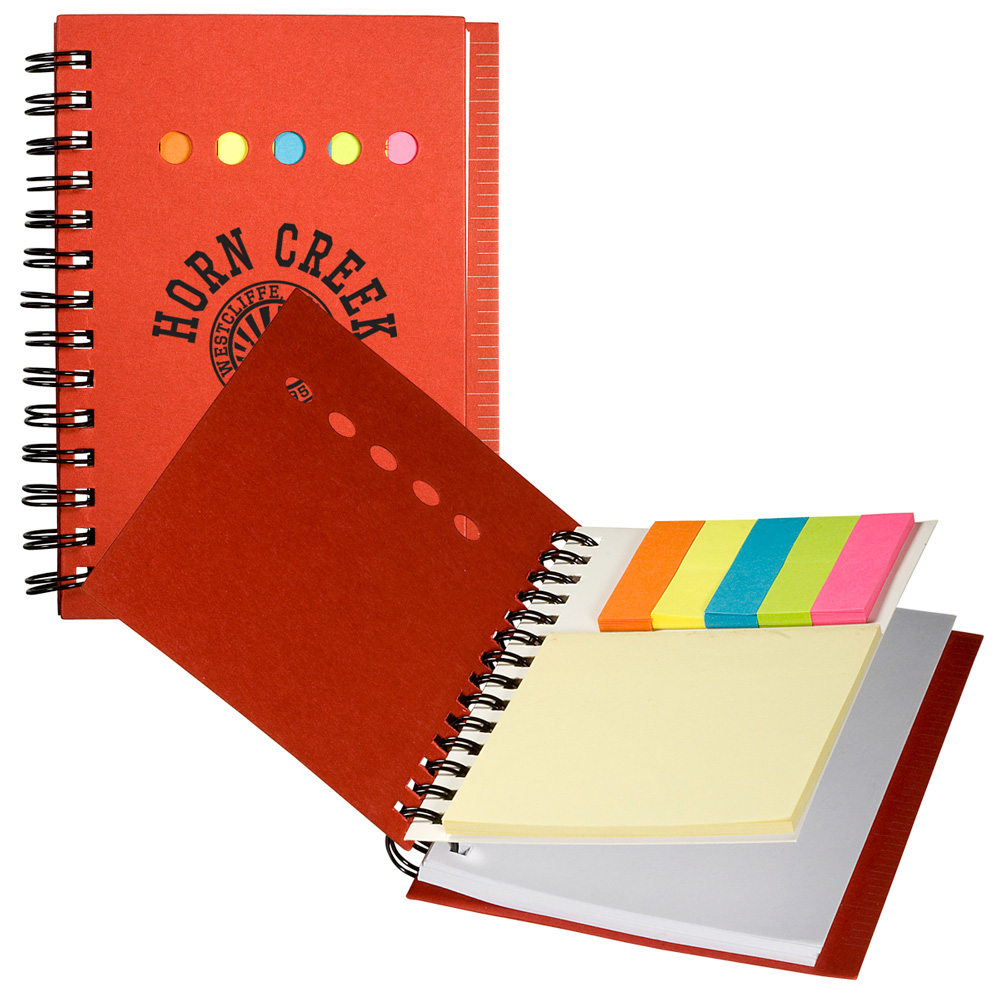 iluvearth Recycled Mini Notebook with Sticky Notes - 16132