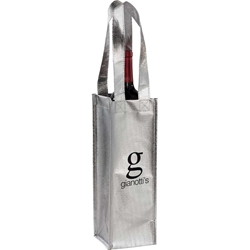 Gabriella Metallic Wine Tote SM-7110,SM7110,Metallic,Single,Bottle,Wine,Tote
