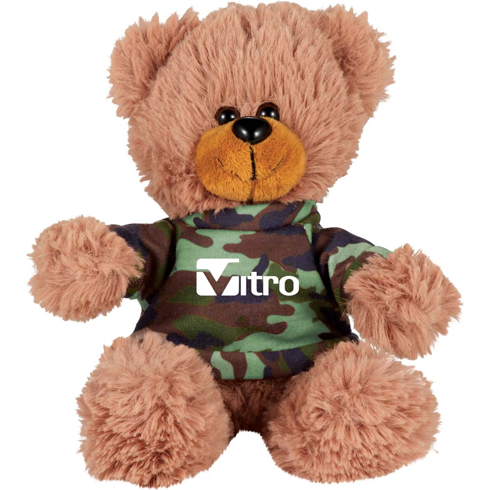 "Bobby the Bear 6"" Plush Animal with Shirt SM-8510,SM8510,6"",Sitting,Plush,Bear,with,Shirt,16011"