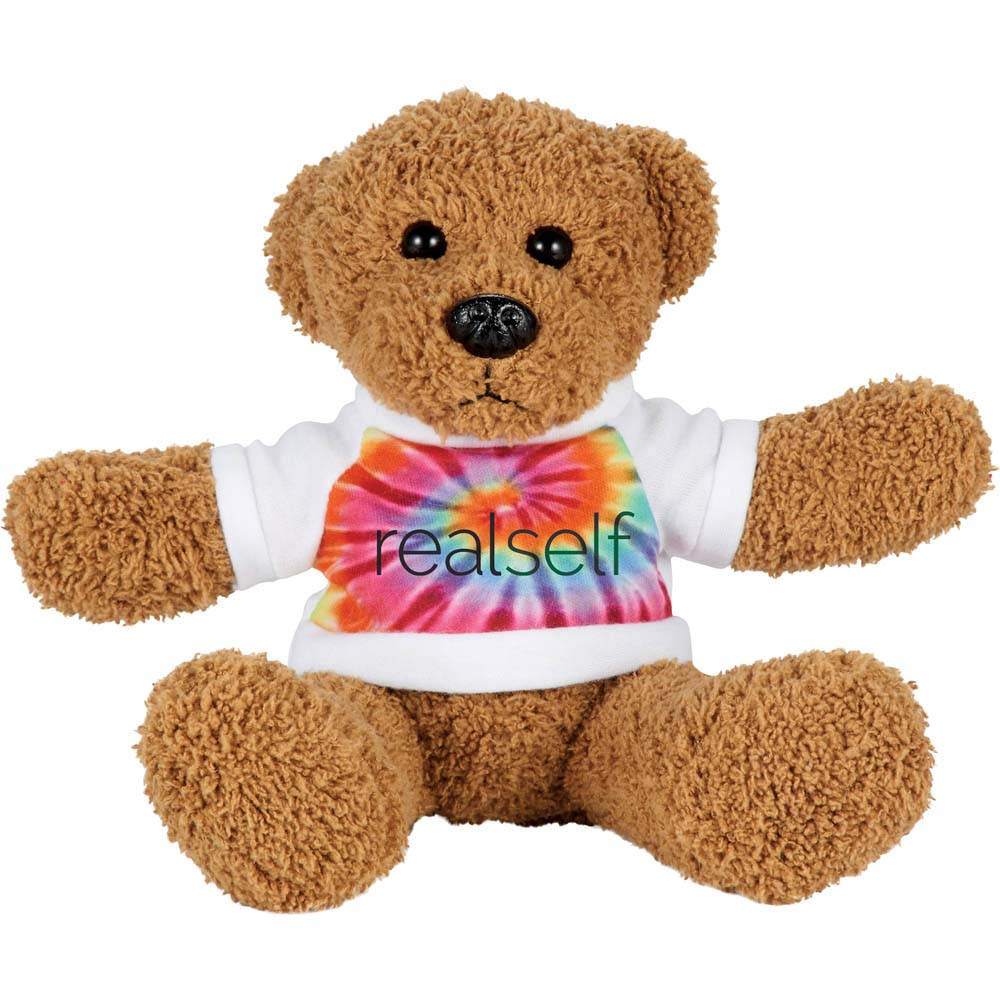 "Retro Bear 6"" Plush Animal with Shirt"