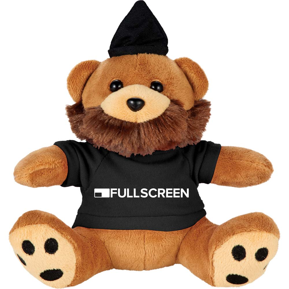 "Hipster Bear 6"" Plush Animal with Shirt"