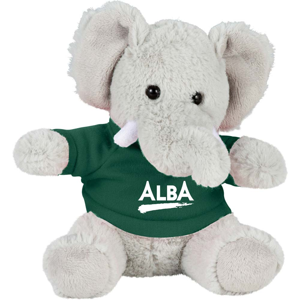 "Eddie the Elephant 6"" Plush Animal with Shirt"