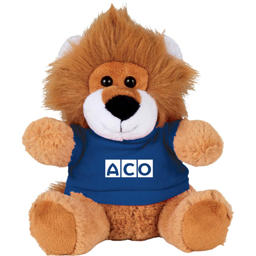 "Louis the Lion 6"" Plush Animal with Shirt"