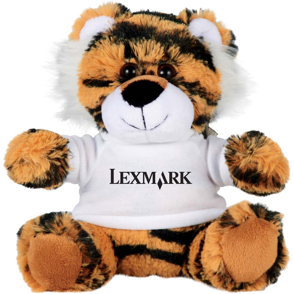 "Tommy the Tiger 6"" Plush Animal with Shirt"