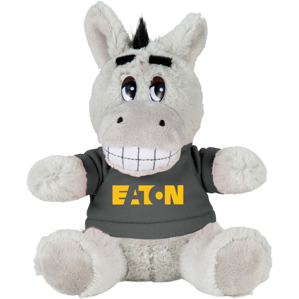 "Danny the Donkey 6"" Plush Animal with Shirt"