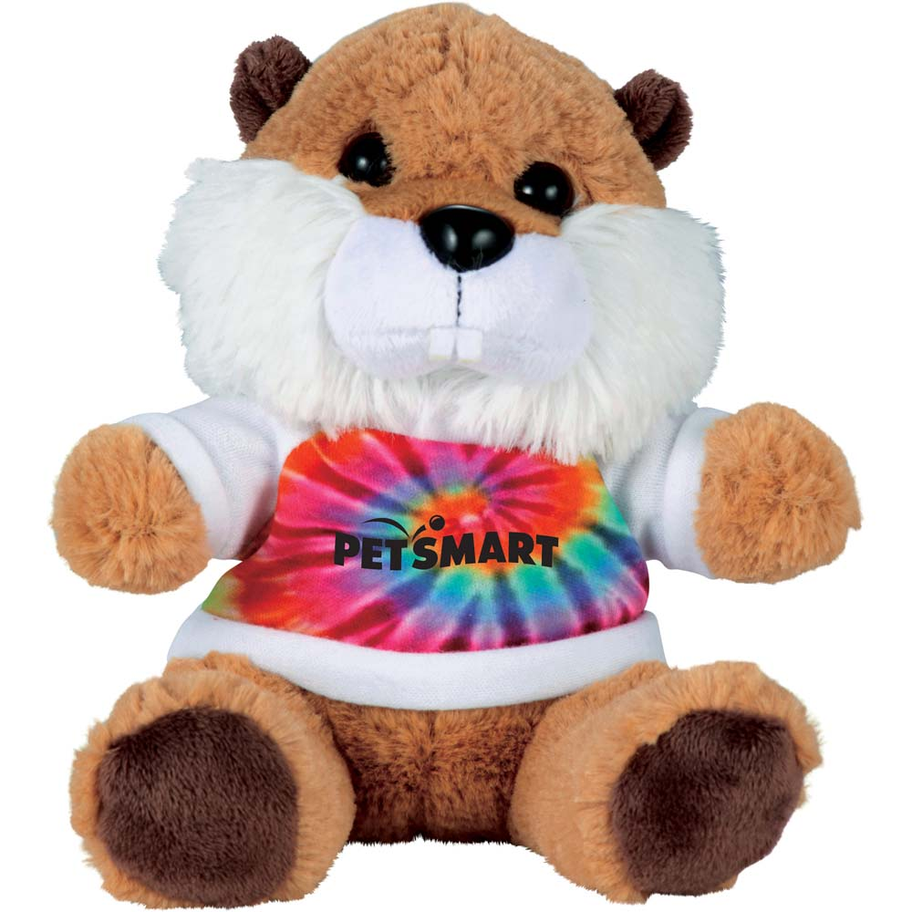 "Billy the Beaver 6"" Plush Animal with Shirt"