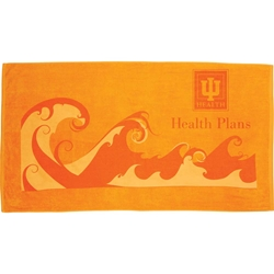 Oasis Beach Towel 10.5 lb/doz - Waves 2090-84,209084,Ocean,Wave,Beach,Towel