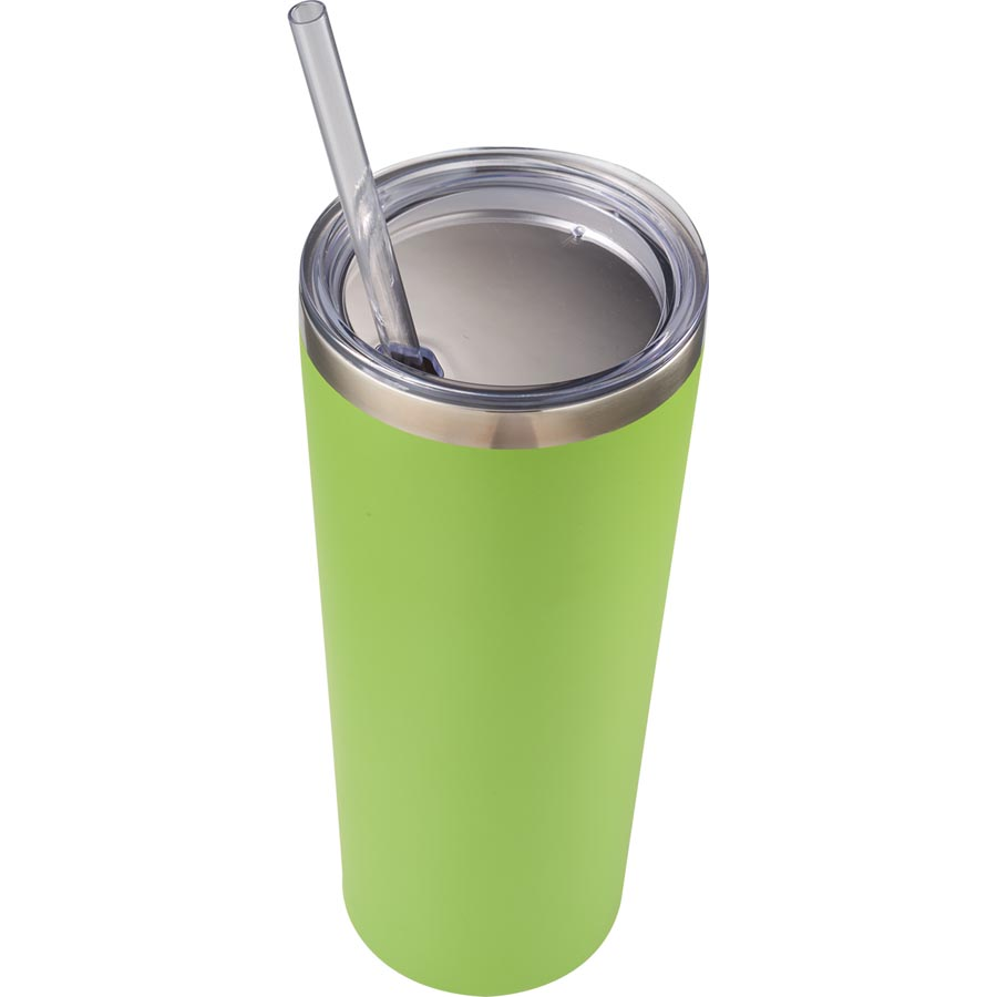 Mandarin Copper Vacuum Insulated Tumbler with Straw 22 oz - 19273