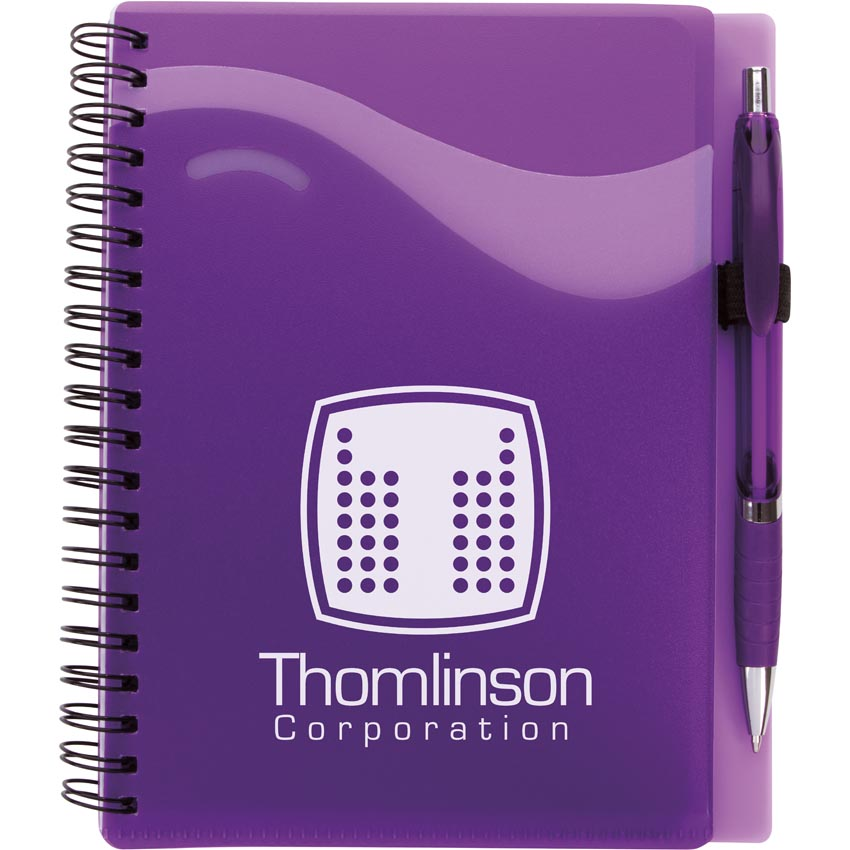 Bonanza Junior Notebook with Pen 15860,15860,Wave,Notebook,with,Epiphany,Pen,