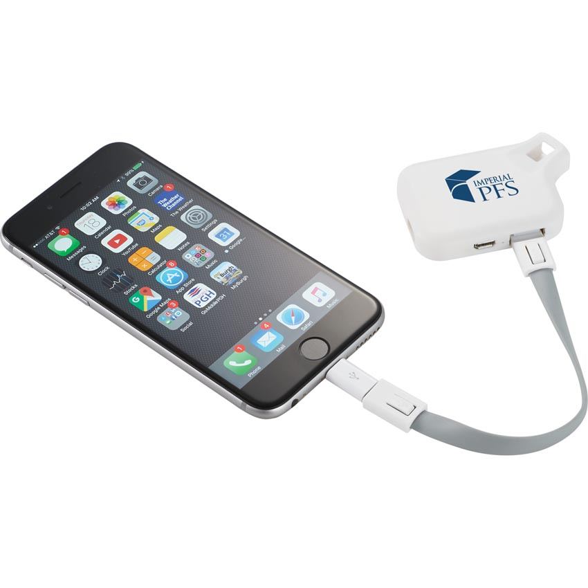 Somerset 3-in-1 MFI Certified Cable and 500 mAh Power Bank - 19643