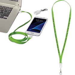 Charging Cable Lanyard SM-3724,SM3724,2-in-1,Charging,Cable,in,Clip,