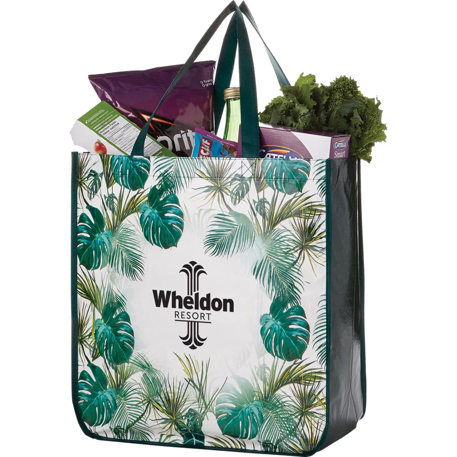 Palms Laminated Tote - 20387