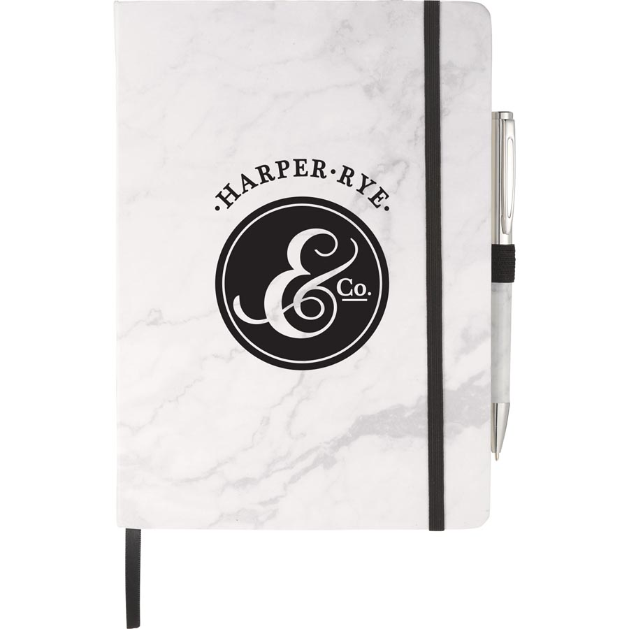 Marble Hard Bound Junior Journal with Pen - 20396