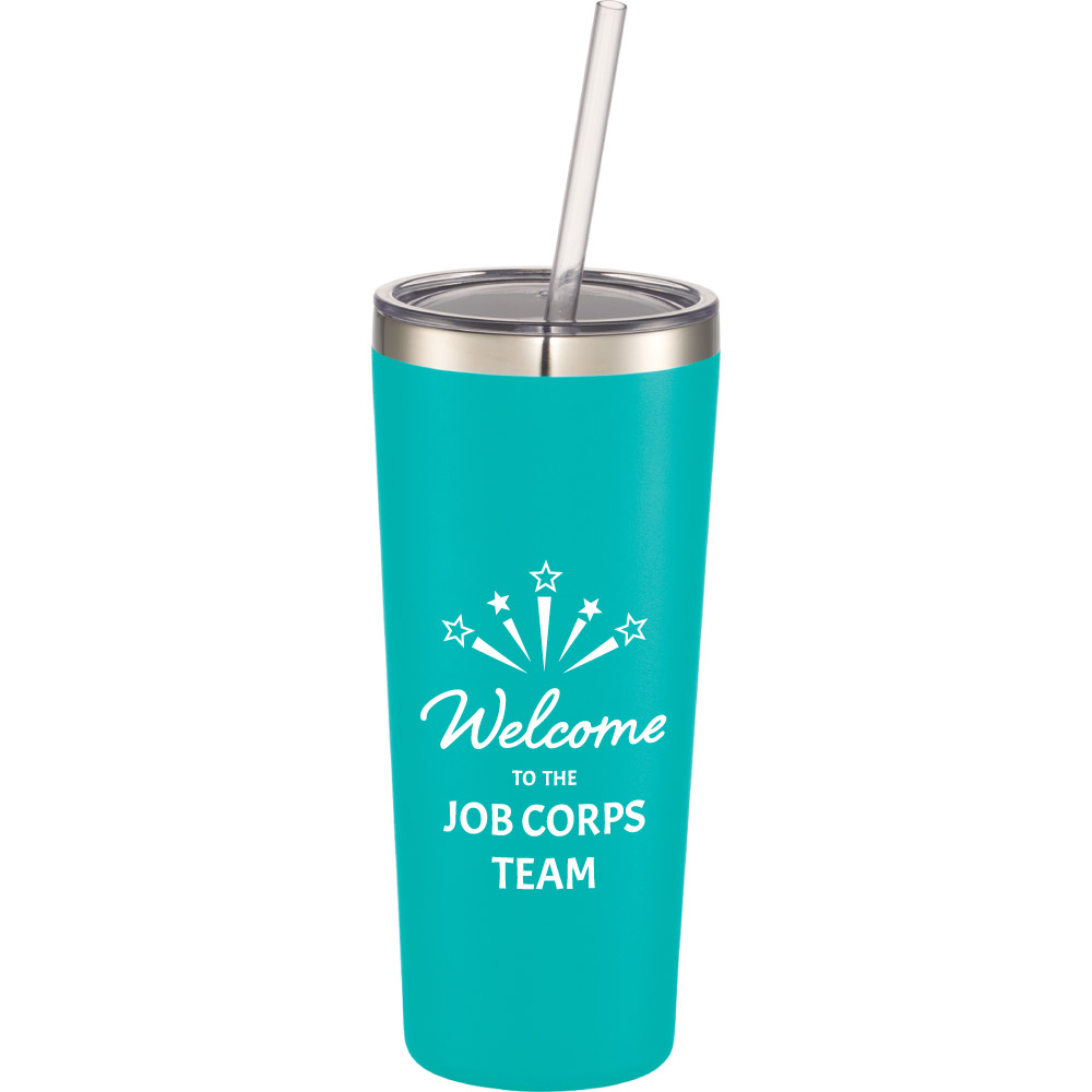 Mandarin Copper Vacuum Insulated Tumbler 22 oz - Welcome to the Job Corps Team 1625-78,162578,Thor,Copper,Vacuum,Insulated,Tumbler,22oz,Job Corps
