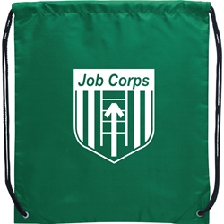 Tahoe Junior Nylon Drawstring Backpack 14 x 16 - Job Corps SM-7548,SM7548,Oriole,Drawstring,Cinch,Backpack,