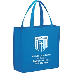 Errand Day Non Woven Tote 13 x 13 x 5 - Job Corps - Custom SM-7321,SM7321,Main,Street,Shopper,Tote,