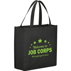 Errand Day Tote Non Woven 13 x 13 x 5 - Welcome to Job Corps SM-7321,SM7321,Main,Street,Shopper,Tote,