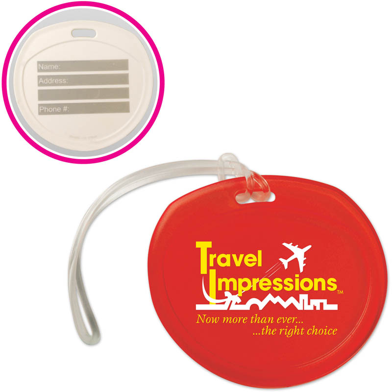 Jupiter Write On Luggage Tag - Round